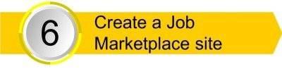 Create a job market place site